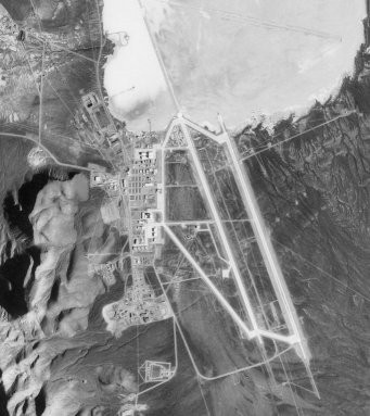 Area 51 installation on Groom Dry Lake, taken in 1998
