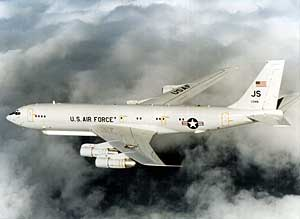E-8 Joint STARS can maintain real time surveillance