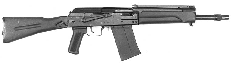 SAIGA-12K, with folding buttstock, pistol grip and 430-mm long barrel.